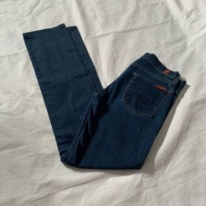 7 For All Mankind Size 25 Straight Jeans Inseam 31